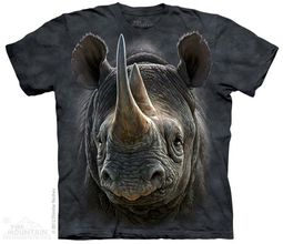 Black Rhino Shirt Tie Dye Adult T-Shirt Tee