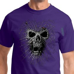 Black Widow Biker Skull Tee Shirts