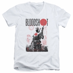 Bloodshot Shirt Slim Fit V-Neck Tech White T-Shirt