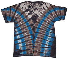 Blue Brown Vee Adult Unisex V-Dye Tie Dye T-shirt Tee Shirt