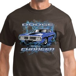 Blue Dodge Charger Mens Dodge Shirts