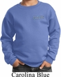 Blue Dodge Charger Pocket Print Kids Sweat Shirt