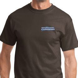 Blue Dodge Charger Pocket Print Mens Shirts