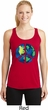 Blue Earth Peace Ladies Dry Wicking Racerback Tank Top