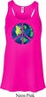 Blue Earth Peace Ladies Flowy Racerback Tanktop
