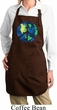 Blue Earth Peace Ladies Full Length Apron with Pockets