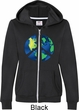 Blue Earth Peace Ladies Full Zip Hoodie