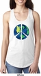 Blue Earth Peace Ladies Ideal Tank Top