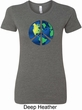Blue Earth Peace Ladies Longer Length Shirt