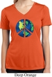 Blue Earth Peace Ladies Moisture Wicking V-neck Shirt