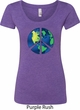 Blue Earth Peace Ladies Scoop Neck Shirt