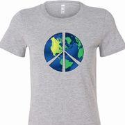 Blue Earth Peace Ladies Shirts
