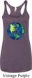 Blue Earth Peace Ladies Tri Blend Racerback Tank Top