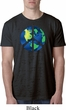 Blue Earth Peace Mens Burnout Shirt