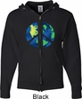 Blue Earth Peace Mens Full Zip Hoodie
