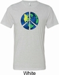 Blue Earth Peace Mens Tri Blend Crewneck Shirt
