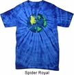 Blue Earth Peace Spider Tie Dye Shirt