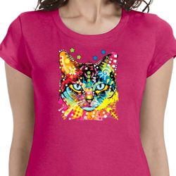 Blue Eyes Cat Ladies Shirts
