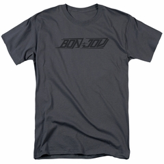 Bon Jovi Shirt New Logo Charcoal T-Shirt