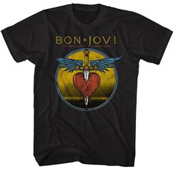 Bon Jovi T-Shirt Bad Name Black Tee
