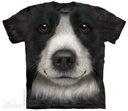 Border Collie Shirt Tie Dye Adult T-Shirt Tee