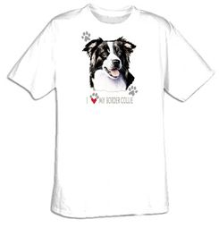 Border Collie T-shirt - I Love My Border Collie Dog Tee