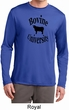Bovine University Mens Dry Wicking Long Sleeve Shirt
