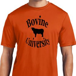 Bovine University Mens Moisture Wicking Shirt