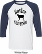 Bovine University Mens Raglan Shirt