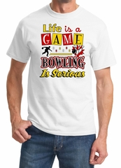 """""""Bowling is Serious"""" Funny Bowler Tee Shirt"""