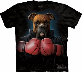 Boxer Shirt Tie Dye Dog Rocky Boxing Adult T-shirt Tee