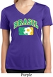 Brasil Ladies Moisture Wicking V-neck Shirt