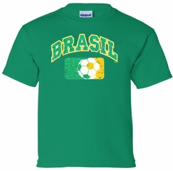 Brazil Kids Tee Shirt - Kelly Green Jersey