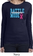Breast Cancer Awareness Battle Mode Ladies Long Sleeve Shirt