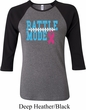 Breast Cancer Awareness Battle Mode Ladies Raglan Shirt
