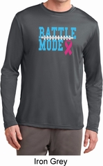 Breast Cancer Awareness Battle Mode Mens Dry Wicking Long Sleeve Shirt