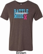Breast Cancer Awareness Battle Mode Mens Tri Blend Crewneck Shirt