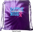 Breast Cancer Awareness Battle Mode Spiral Purple Tie Dye Bag