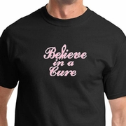 Breast Cancer Awareness Believe in a Cure Mens Shirts