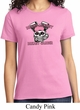 Breast Cancer Awareness Bikers Against Breast Cancer Ladies Shirt