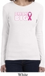 Breast Cancer Awareness Dream Big Ladies Long Sleeve Shirt