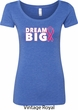 Breast Cancer Awareness Dream Big Ladies Scoop Neck Shirt