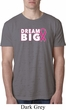 Breast Cancer Awareness Dream Big Mens Burnout Shirt