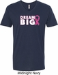 Breast Cancer Awareness Dream Big Mens V-Neck Shirt