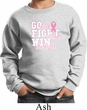 Breast Cancer Awareness Go Fight Win Kids Sweat Shirt
