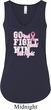 Breast Cancer Awareness Go Fight Win Ladies Flowy V-neck Tanktop