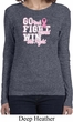 Breast Cancer Awareness Go Fight Win Ladies Long Sleeve Shirt