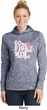 Breast Cancer Awareness Go Fight Win Ladies Moisture Wicking Hoodie