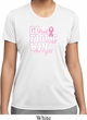 Breast Cancer Awareness Go Fight Win Ladies Moisture Wicking Shirt