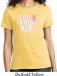 Breast Cancer Awareness Go Fight Win Ladies Shirt
